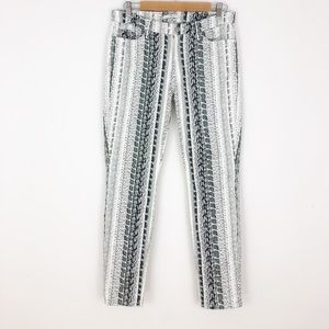 7 For All Makind Python Skinny Jeans